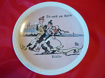 Die Walk am Rhein Fourth 4th Final Norman Rockwell on Tour Plate Newell Pottery
