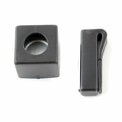 Pool Billiards Snooker Cue Chalk Holder-Magnetic with Belt Clip +Buckle