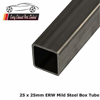 Mild Steel ERW Box 25mm x 25mm x 1.5mm, 2000mm Long, Square Tube