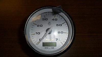 FARIA THC056A KRONOS 7000 RPM OUTBOARD  BOAT TACHOMETER GAUGE w / HOUR