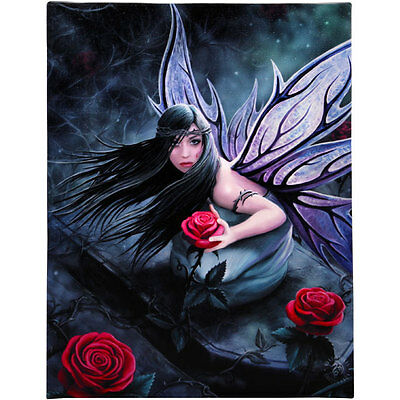 Fantasy Gothic Art Canvas Wall Plaque~Rose Fairy~by Anne Stokes~35~uk