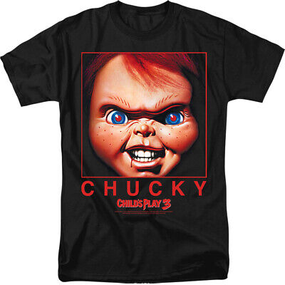 Child's Play Movie Chucky Squared Licensed Adult T Shirt