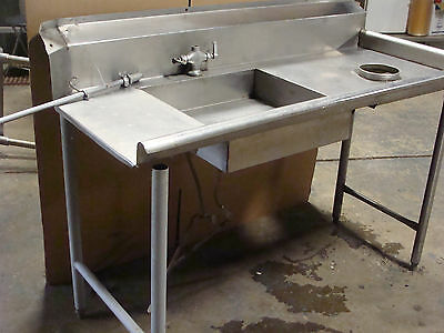 HEAVY DUTY COMMERCIAL GRADE STAINLESS STEEL DISH-WASHING TABLE FOR DISHWASHER