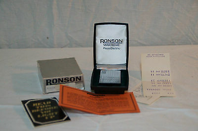 WOW!! RONSON LIGTHER 70'S WITH BOX AND PAPER WORK WILL MAKE ME OFFER
