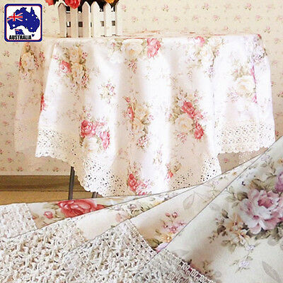 90x90cm 110x110cm Table Cloth Lace Floral for Round and Square Table HDCLH9
