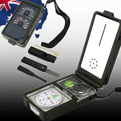 Multi Tool Military Compass Kit Outdoor Camping Hiking Survival 10in1 OCOMP1057