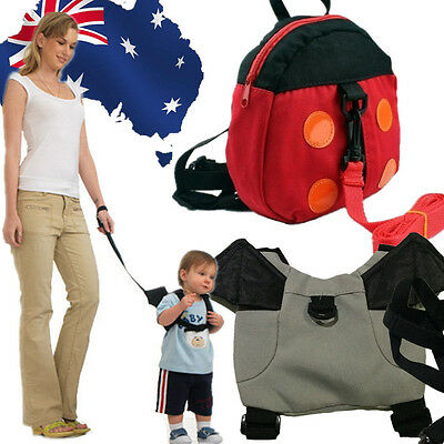 Baby Keeper Toddler Walking Safety Harness Backpack Bag Ladybird Bat SBBAG63