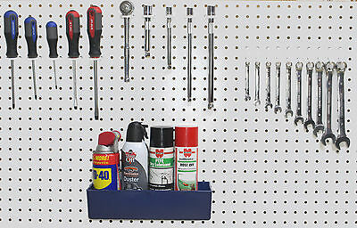 Plastic 30 pc Peg Board Hook Kit & Plastic Bin PEGBOARD NOT INCLUDED