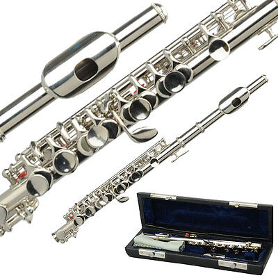 New Professional Piccolo Silver C Key School Band with Case