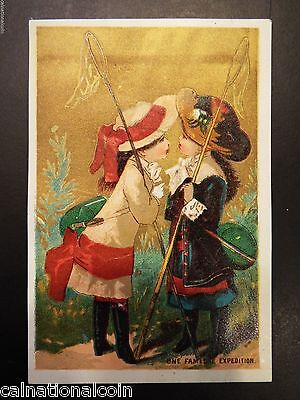 """One Fameuse Expedition"" Sewing Machine Antique Trade Card"