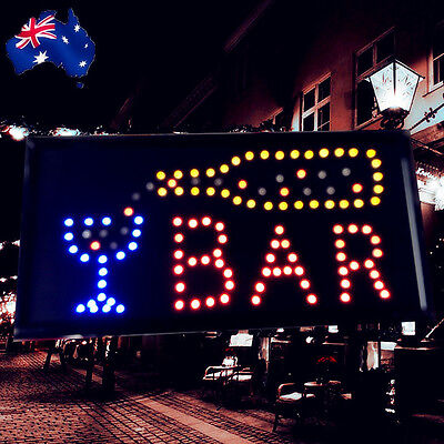 Flashing LED Sign BAR 48x24cm Shop Signboard Logo Light ESIGN4804