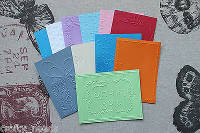 5 PC - Embossed MIXED PACK  Paper ( CARDSTOCK )
