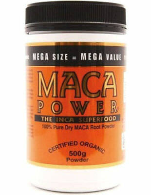 Maca Powder 500 Gm Inca Superfood Certified Organic 100% Dry Maca Root