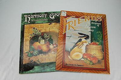 Vintage Lot of 2 Cats in The Cradle Linda McFadden Tole Country Painting Books
