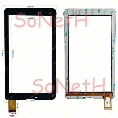 """Vetro Touch screen Digitizer 7,0"""" Majestic TAB-276 3G Tablet PC Nero"""