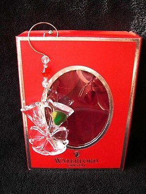 Waterford Lismore Christmas Tree Decoration Champagne Flutes Bauble New