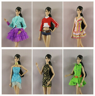 New 6 PCS Lovely Fashion Clothes/Outfit/Dress For Barbie Doll M151