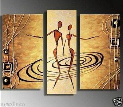 MODERN ABSTRACT OIL PAINTING ON ART CANVAS WALL DECOR(no frame )