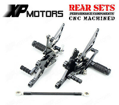 Racing Adjustable Rearset Rear Sets Yamaha YZF R1 1998 1999 2000 2001 02 03 BLK