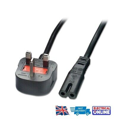 UK Mains 2 PIn Power Lead Cable Cord For Silver Viscount Sewing Machines