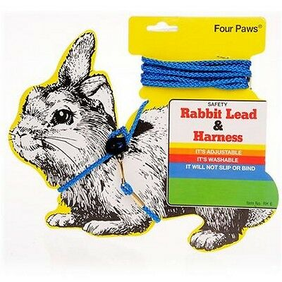 Four Paws Adjustable Rabbit Guinea Pig Outdoor Walking Harness Lead 1.5M 0006