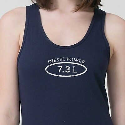 Diesel Power 7.3L Truck Ford Dodge T-shirt Funny Engine Stroke Adult Tank Top