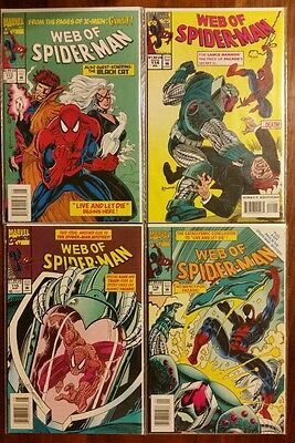 Lot of 4 web of spiderman #113,114,115,116 nice Unlimited Shipping 5.99