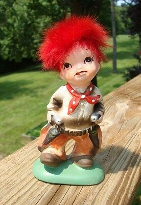 Vintage Cowboy Figurine with Red Hair - Japan Napcoware - Estate - Little Rascal