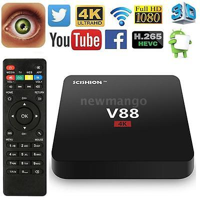 V88 Smart TV Box 8GB Android 5.1 RK3229 4K Quad Core H.265 WIFI Fully Loaded