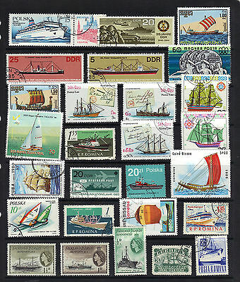 BOATS SHIPS Thematic STAMP COLLECTION Mainly USED Ref: TH104