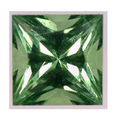 Natural Fine Mint Green Tsavorite Garnet Princess Square - Sri Lanka Top Grade