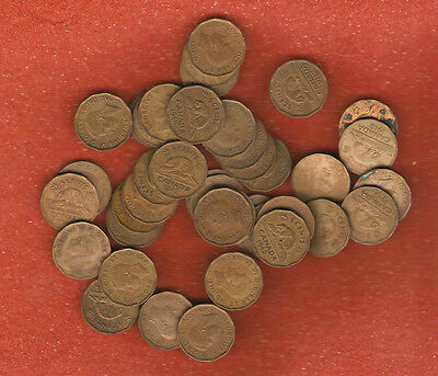 Roll of 40 Semi Rare 1942 Tombac five cent coins all nice coins no culls