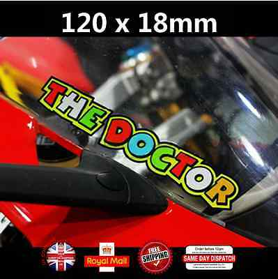 2x Valentino Rossi The Doctor Motorcycle Sticker Decals Laminated Vinyl 120mm
