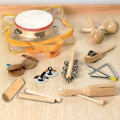 Percussion Set Wooden Kids Children Toddlers Music Instruments Toys Band Kit New