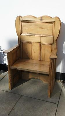 Attractive  hall seat/monks seat/settle, reclaimed pine, character  re-furbished • £195.00