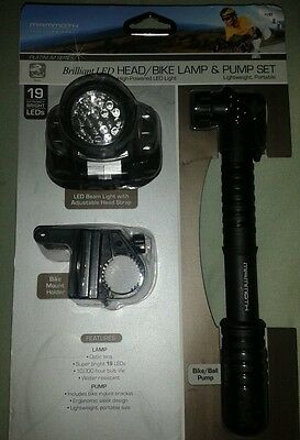 Mammoth Brilliant LED Head Bike Lamp High-Powered Water Resistant FREE Shipping