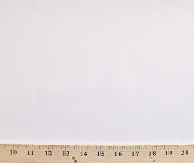 """White Denim Polyester Cotton 64"""" Wide Fabric by the Yard D916.01"""