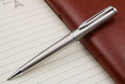 free shipping BAOER Stainless steel silver clip Ball Point Pen NEW