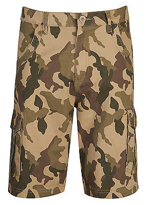 Mens Boys Cargo Combat Army Shorts Casual Camouflage Short Chino Style Smart