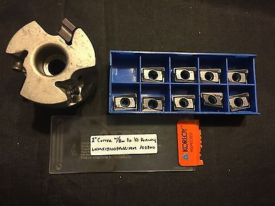"2"" Cutter w/ Box of 10 Korloy LNMX151008PNR - MM  PC5300 Carbide Inserts"