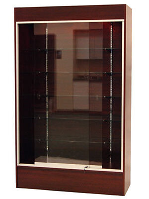 Cherry Color Wall Display Case KNOCKED DOWN Showcase #SC-WC4C