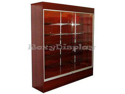 Cherry Color Wall Display Case KNOCKED DOWN Showcase #SC-WC6C