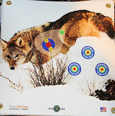 "Archery Target -1500 Plus Shots! Coyote With Scoring Zone! 17""x 17"""