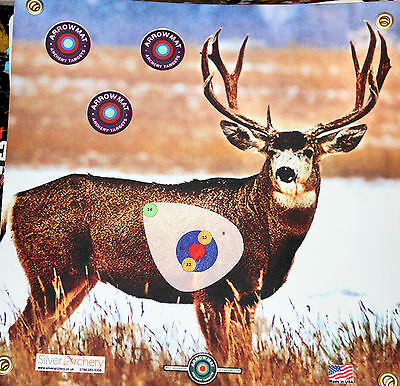 "Archery Target -1500 Plus Shots! Mule Deer With Scoring Zone! 17""x 17"""