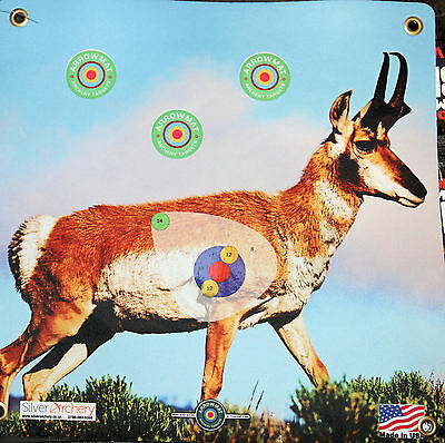 "Archery Target -1500 Plus Shots! Antelope With Scoring Zone! 17""x 17"""