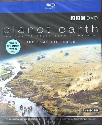 NEW - Planet Earth The Complete BBC Series (Blu ray) 5 Disc - David Attenborough