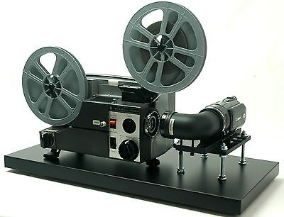 Video Transfer Movie Film Projector, Telecine , Dual 8, Reg.8 and Super 8 Silent