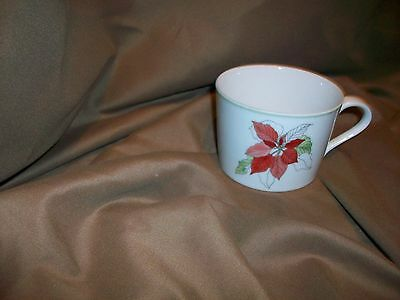 BLOCK SPAL PORTUGAL WATERCOLORS TEACUP POINSETTIA BY MARY LOU GOERTZEN
