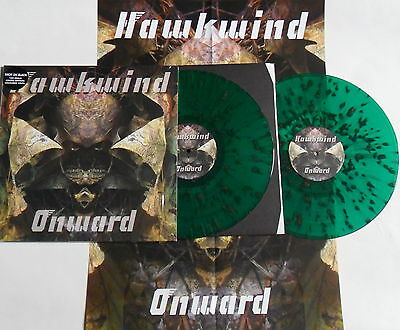 LP HAWKWIND Onward (2LP) Rock Classics RCV080LPSE - GREEN SPLATTER VINYL -SEALED