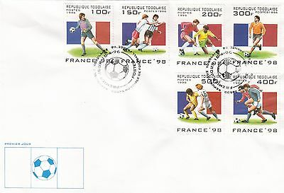 (41503) CLEARANCE Togo FDC Football World Cup Minisheet France 1996